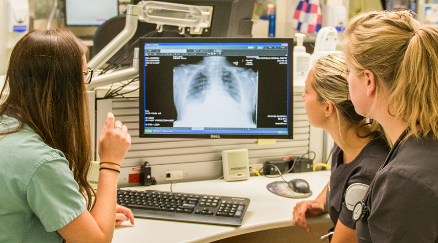 3 RT Looking At Xray At The Desk